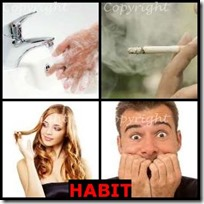 HABIT- 4 Pics 1 Word Answers 3 Letters