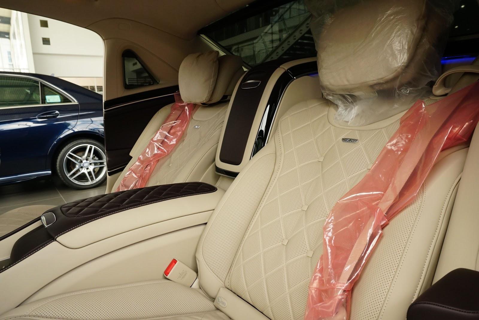 Nội Thất Xe Mercedes Benz S600 MAYBACH Màu Đen 019
