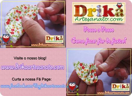 8 Passo a Passo como fazer fuxico Drika Artesanato post