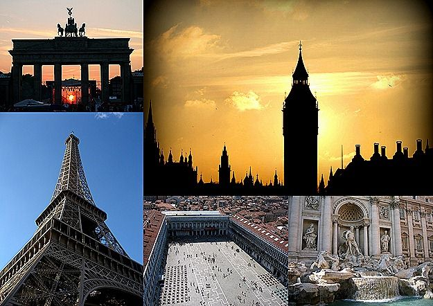Cities of Europe Collage