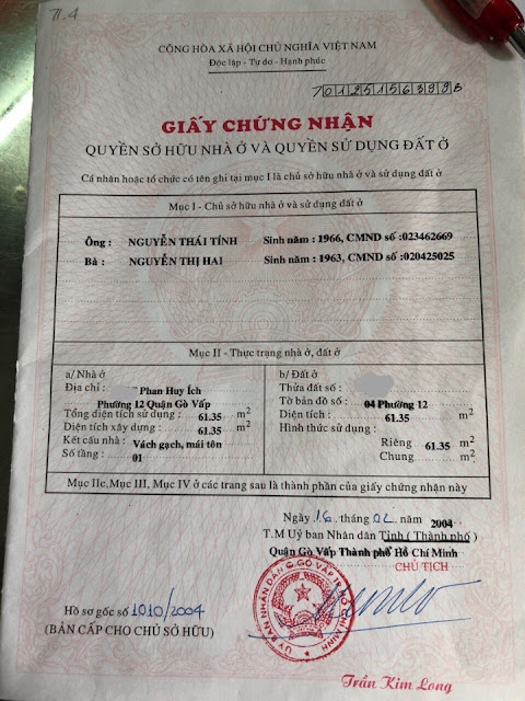 Bán nhà cấp 4 hẻm xe hơi Trung Tâm Quận Gò Vấp