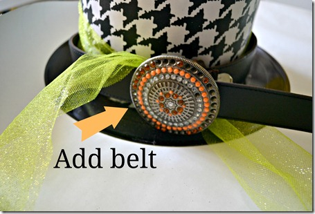 hat with belt