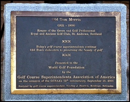 05b - Old Tom Morris Placque