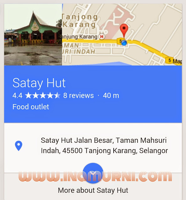 Google Maps Satay Hut