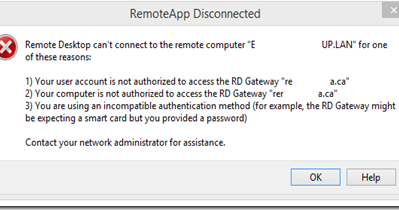 why is the remoteapp connection via rd gateway so slow