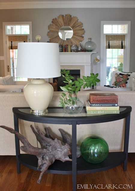 Console table summer styling