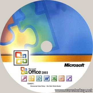 Microsoft Office 2003 Türkçe + Frontpage 2003 Full