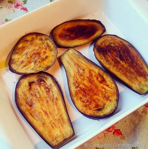 Baked aubergines