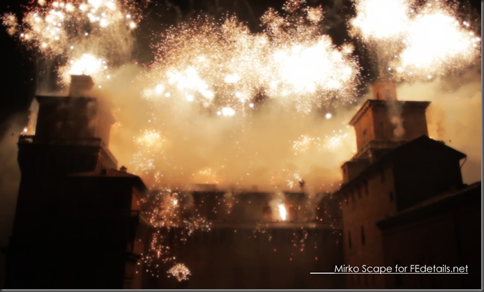 Capodanno a Ferrara: incendio del Castello Estense - New Year's Eve in Ferrara: Estense Castle of fire, Foto1 By Mirko Scape