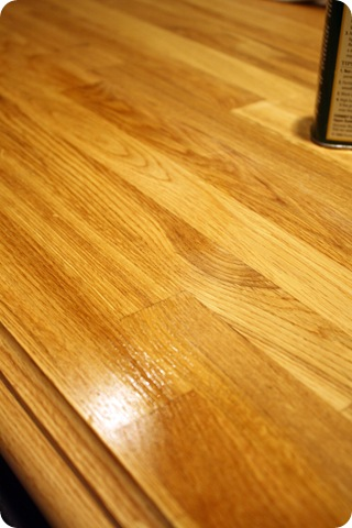 tung oil on butcher block