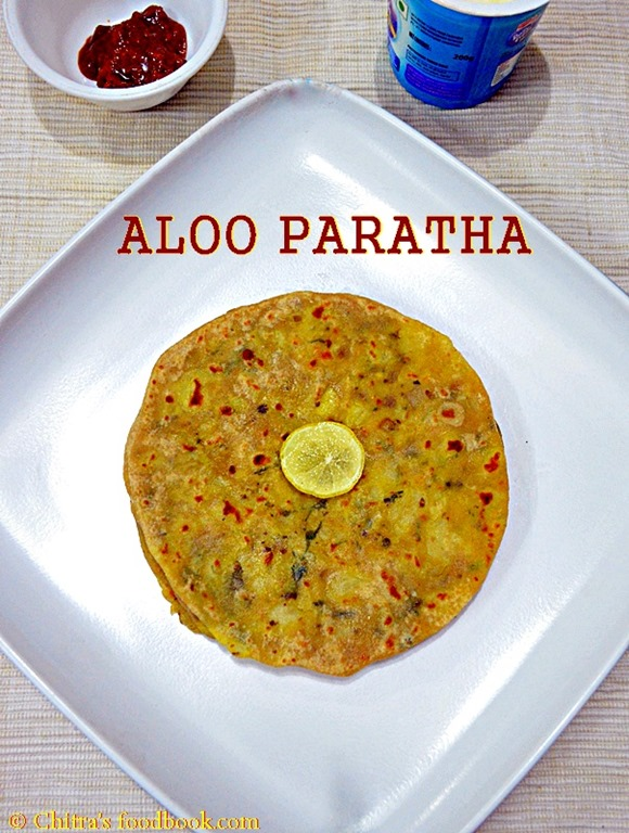 Chitras food book dinner recipes how to make aloo paratha at home potato paratha recipe forumfinder Image collections