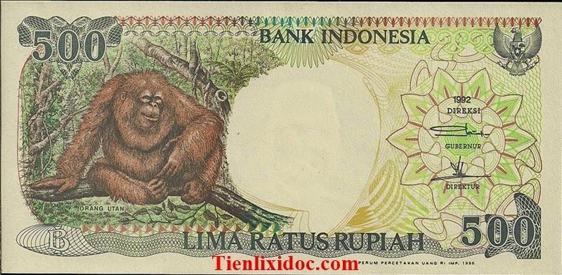 Tiền Hình Con Khỉ 500 Rupiah Indonesia