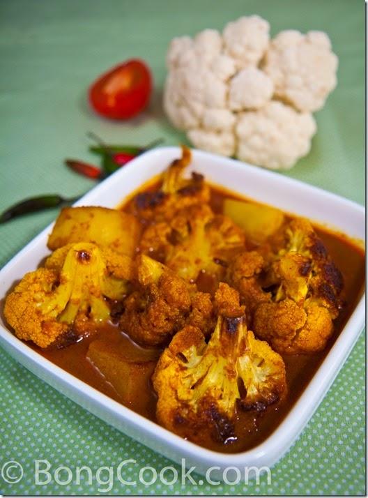 Phulkopir Dalna (Cauliflower and Potato Curry) | BongCook