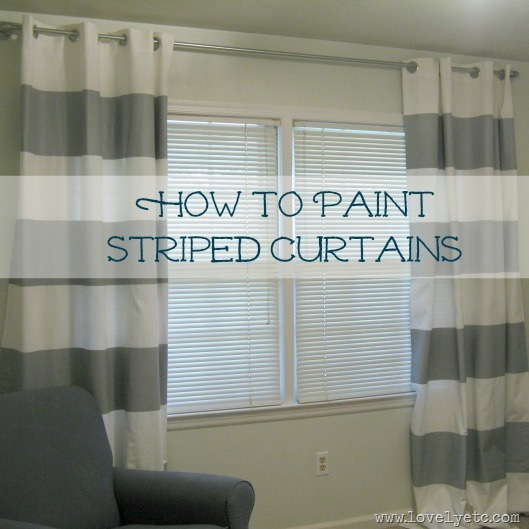 how to paint striped curtains
