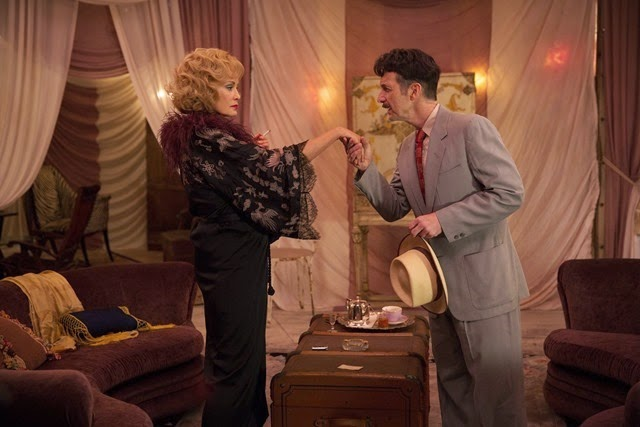 "AMERICAN HORROR STORY: FREAK SHOW ""Pink Cupcakes""- Episode 405 (Airs Wednesday, November 5, 10:00 PM e/p) --Pictured: (L-R) Jessica Lange as Elsa Mars, Denis O'Hare as Stanley. CR: Michele K. Short/FX"