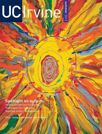 Candy Painting on the cover of UC Irvine Magazine