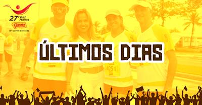 Últimos dias de inscrição Participe da 10MilhasGaroto e da CorridaGarotada Esporte em