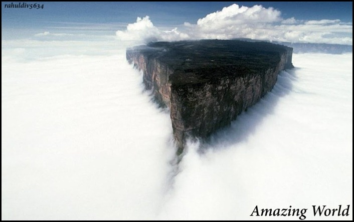 Mount Roraima is the highest of the Pakaraima chain of tepui plateau in South America