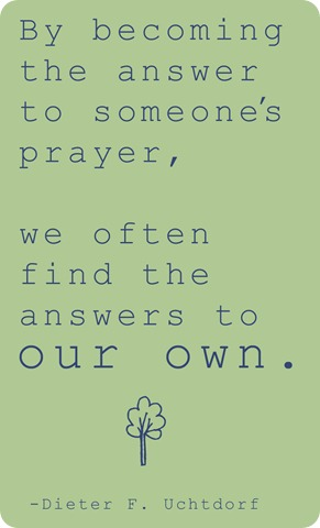 answer prayer