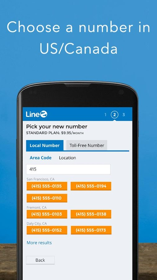 Line2 - Second Phone Number - screenshot