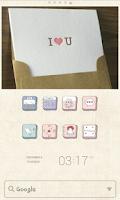 Screenshot of Lovely Drawings dodol Theme
