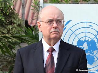 Le chef de la Monusco, Roger Meece à Kinshasa, 26/07/2010.