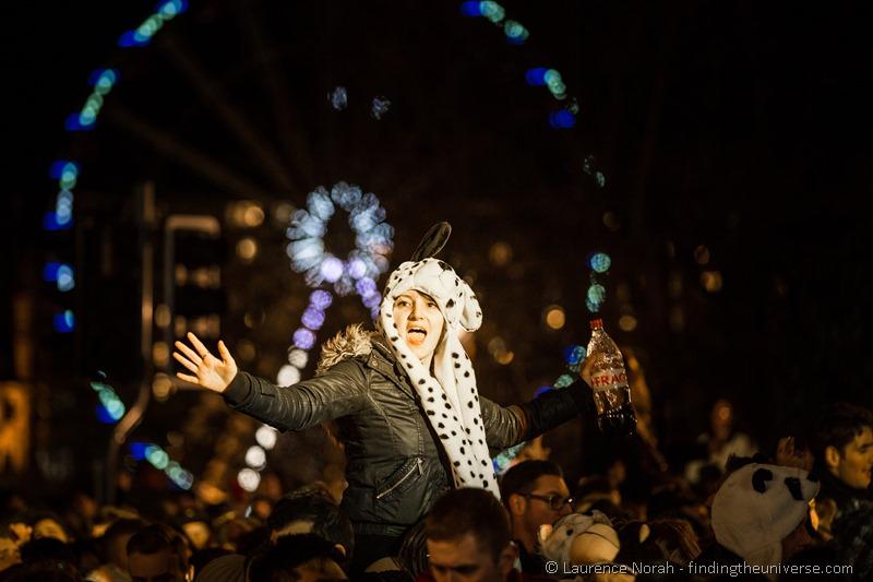 new years eve reveller hogmanay edinburgh 2014