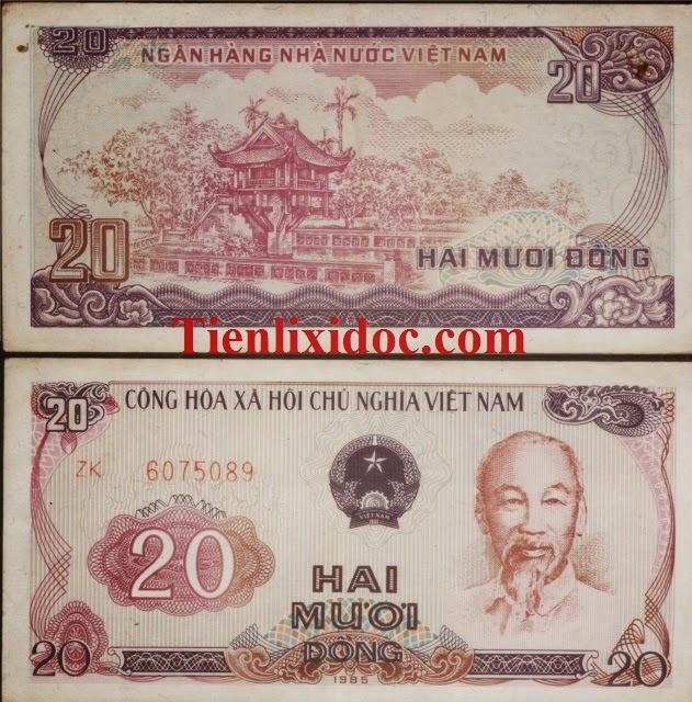 Tờ 20 Đồng Việt Nam Năm 1985