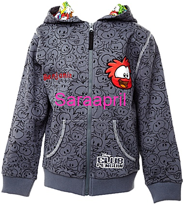 Club Penguin Hooded Top with Puffles :)