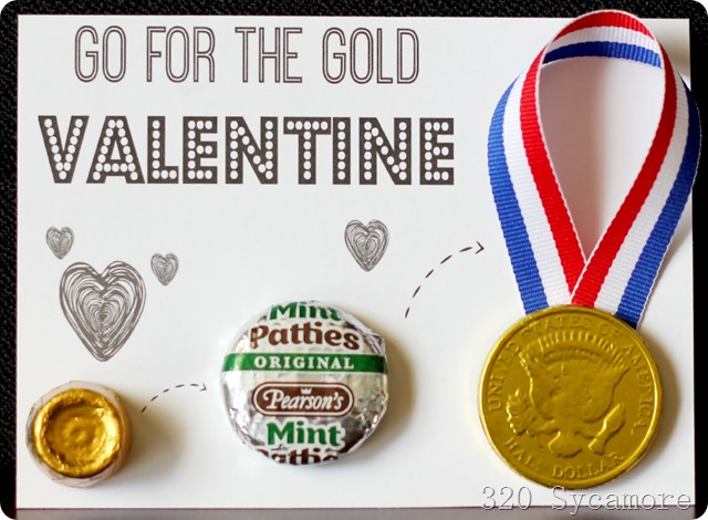 go for the gold valentine