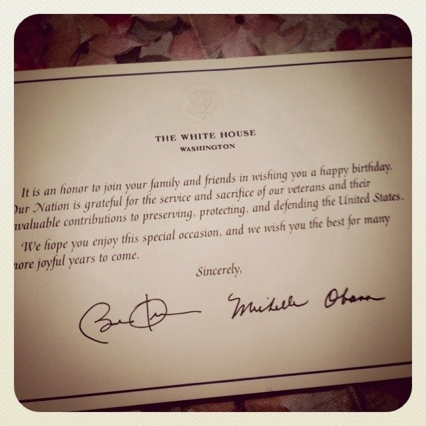 From Aura: Birthday Card From President Obama