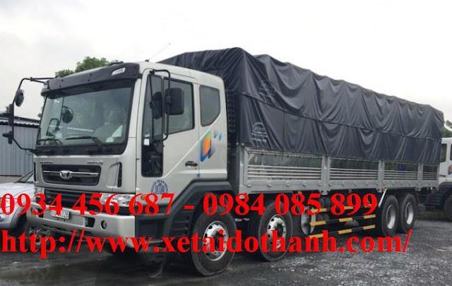 Xe tải Daewoo 4 chân thùng bạt nhập khẩu tải trọng cao