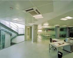 Falsos techos de aluminio oficinas