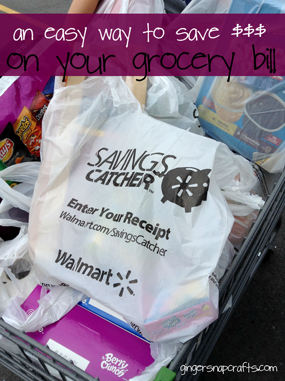 An Easy Way to Save Money on Your Grocery Bill at GingerSnapCrafts.com #savingscatcher #ad
