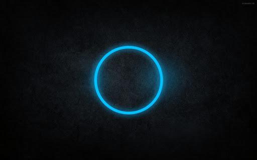 Abstract Black and Blue Circle