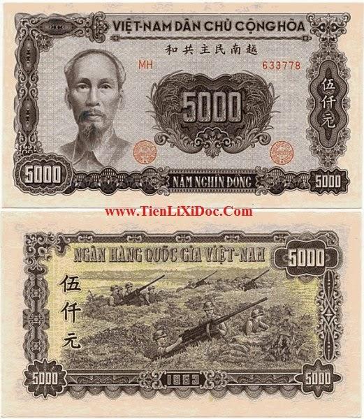 5000 Đồng Việt Nam Dân Chủ 1951
