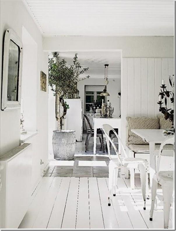 uso del colore bianco case e interni