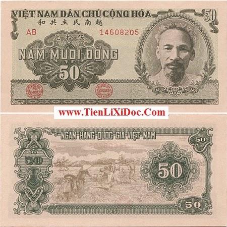 50 Đồng Việt Nam Dân Chủ 1951(Xanh)