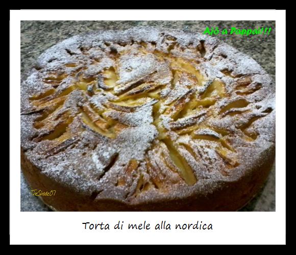 Fotografia della torta di mele alla nordica