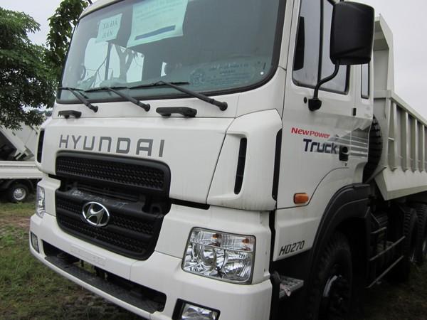 Ngoại thất xe 14 tấn ben HD270 Hyundai
