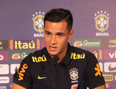 Philippe Coutinho in press conference for Brazil