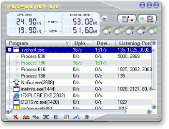 Windows Network Speed Monitor and Controller