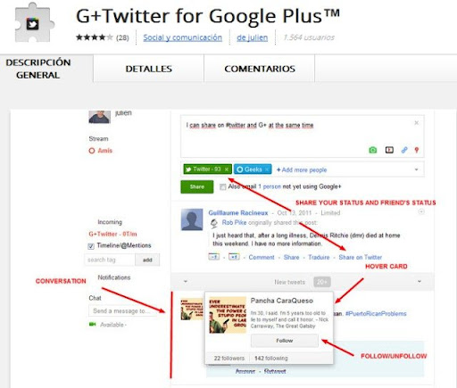 G+Twitter for Google Plus