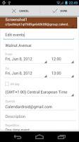 Screenshot of Calendar Droid Free