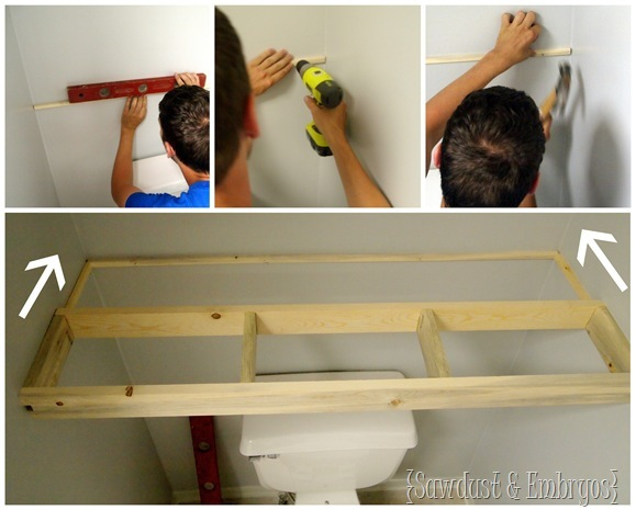 Custom Floating Shelves {Sawdust and Embryos}