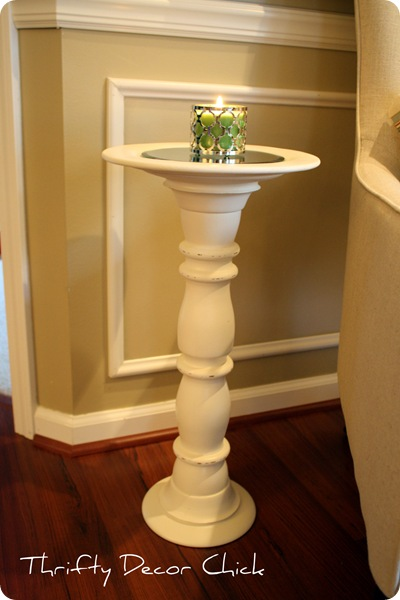 candlestick turned side table