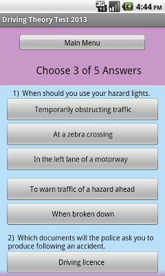THEORY TEST  FREE - screenshot