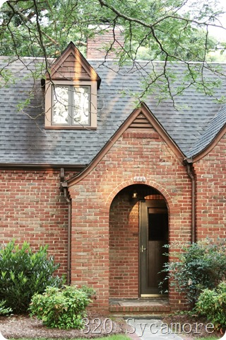 arched brick entryway