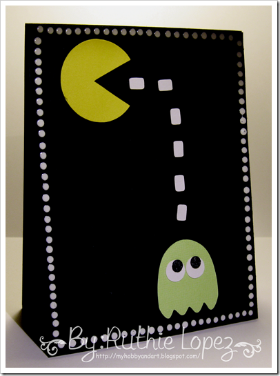 Pacman Card - Designs on Cloud - Awesome 80´s - Latinas Arts and Crafts - Ruthie Lopez DT