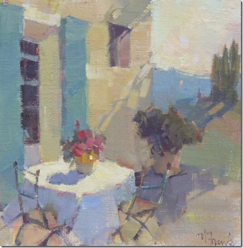 11C Courtyard painted by Nancy Franke